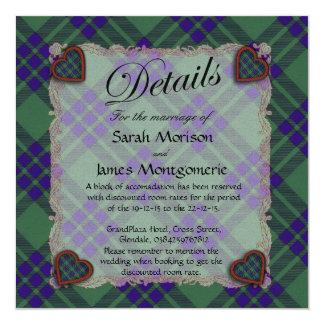 Montgomerie Scottish clan tartan - Plaid 13 Cm X 13 Cm Square Invitation Card