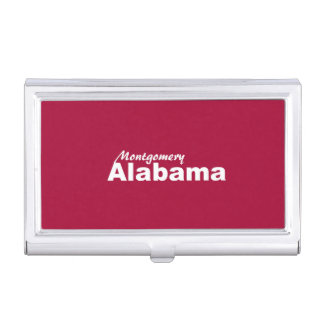 Montgomery, Alabama Business Card Holder
