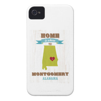 Montgomery, Alabama Map – Home Is Where The Heart iPhone 4 Case-Mate Case