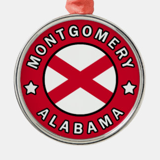 Montgomery Alabama Silver-Colored Round Decoration