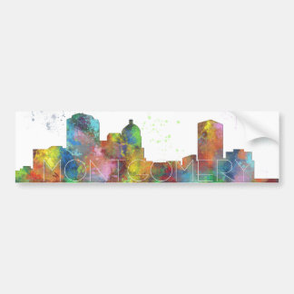 MONTGOMERY, ALABAMA SKYLINE BUMPER STICKER