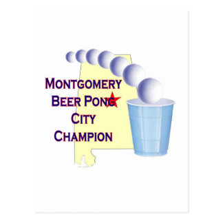 Montgomery Beer Pong Champion Postcard