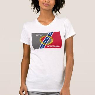 Montgomery city Alabama flag united states america T-Shirt