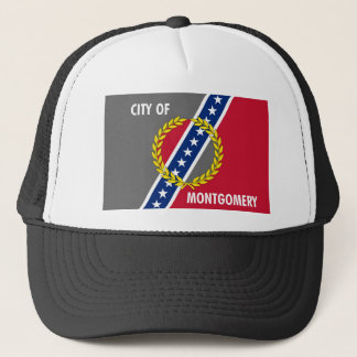 Montgomery city Alabama flag united states america Trucker Hat