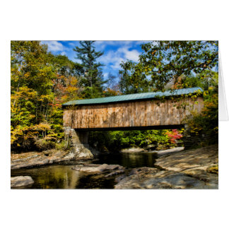 Montgomery Covered Bridge with fall foliage Card