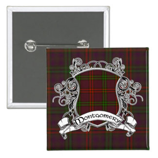 Montgomery Tartan Shield 15 Cm Square Badge