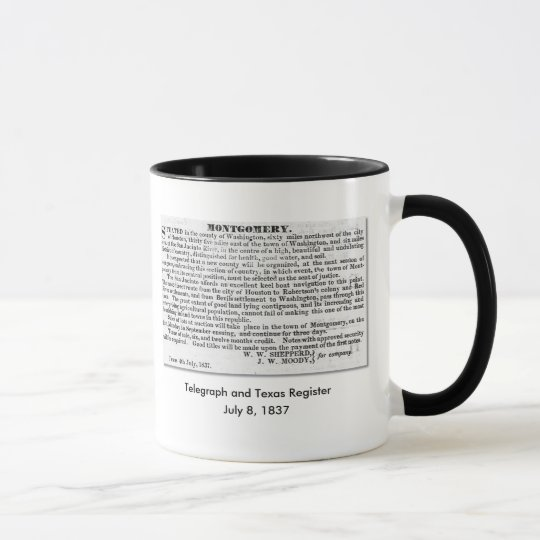 Montgomery Texas - Founded July 1837 Mug