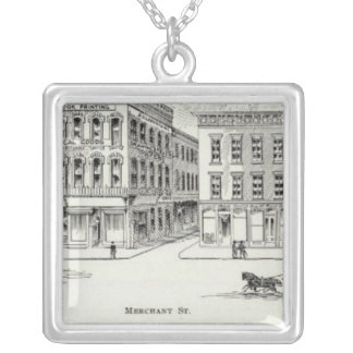 Montgomery West side Clay and Washington Silver Plated Necklace