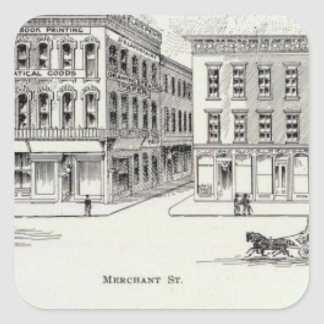 Montgomery West side Clay and Washington Square Sticker
