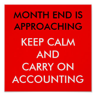 MONTH END IS APROACHING POSTER