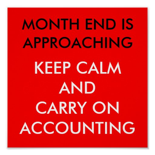 MONTH END IS APROACHING: POSTER