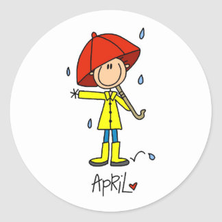Month of April Round Sticker