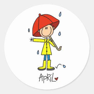 Month of April Round Sticker