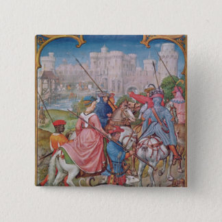 Month of August 15 Cm Square Badge