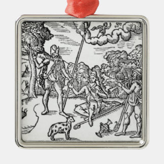 Month of August, from 'The Shepheardes Silver-Colored Square Decoration