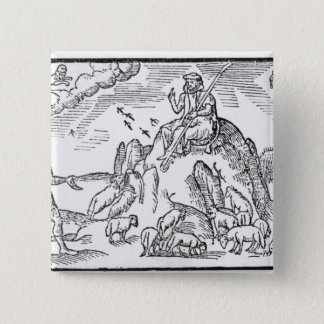 Month of July, from 'The Shepheardes Calender' 15 Cm Square Badge