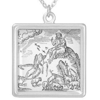 Month of July, from 'The Shepheardes Calender' Silver Plated Necklace