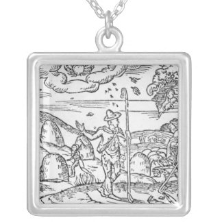 Month of June, from 'The Shepheardes Calender' Silver Plated Necklace
