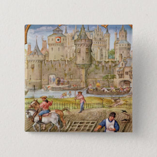 Month of October 15 Cm Square Badge