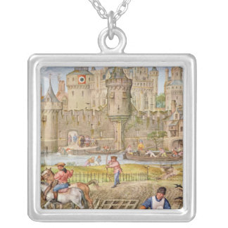 Month of October Silver Plated Necklace