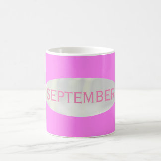 Month of September Hot Pink Coffee Mug by Janz