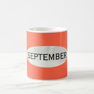 Month of September Red Coffee Mug by Janz