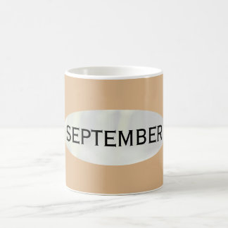 Month of September Tan Coffee Mug by Janz