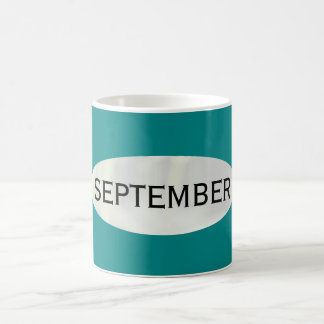Month of September Teal Coffee Mug by Janz