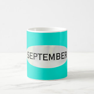 Month of September Turquoise Coffee Mug by Janz