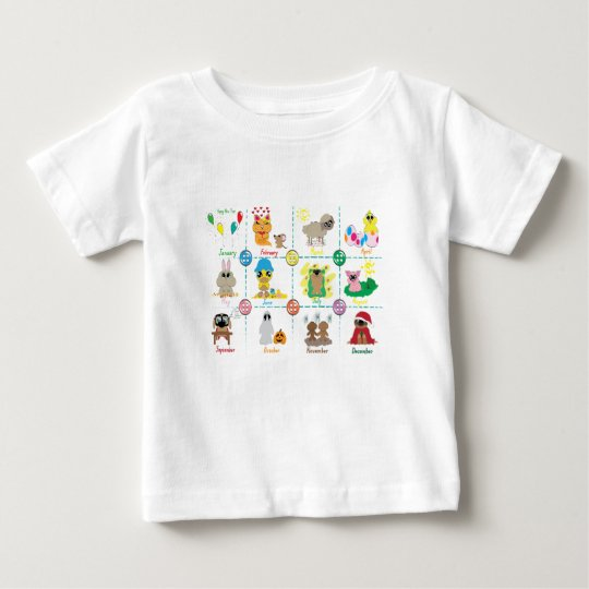 Months Of The Year Baby T-Shirt