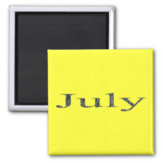 Months of the Year - July Square Magnet