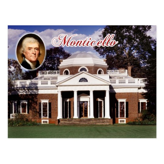 Monticello, Jefferson's Home, Virginia Postcard