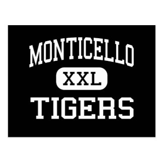 Monticello - Tigers - High - Lake Providence Postcard