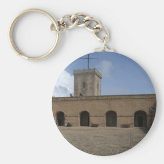 Montjuïc Castle, Barcelona Basic Round Button Key Ring