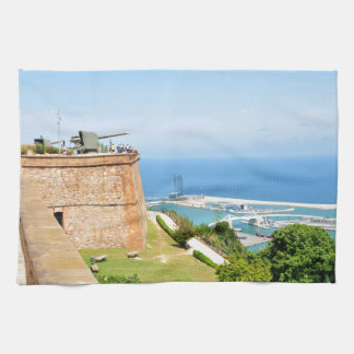 Montjuic castle, Barcelona Kitchen Towels