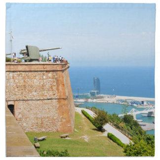 Montjuic castle, Barcelona Napkin