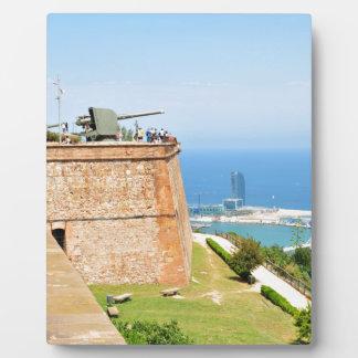 Montjuic castle, Barcelona Photo Plaques