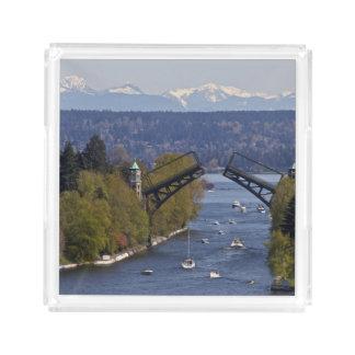 Montlake Bridge and Cascade Mountains