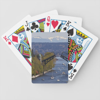 Montlake Bridge and Cascade Mountains Bicycle Playing Cards
