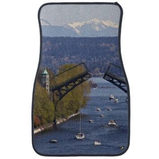 Montlake Bridge and Cascade Mountains Car Mat