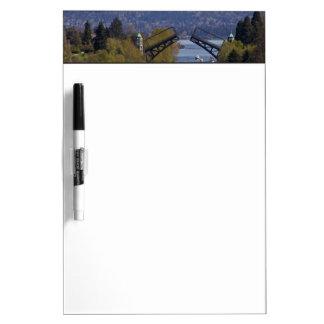 Montlake Bridge and Cascade Mountains Dry Erase Board