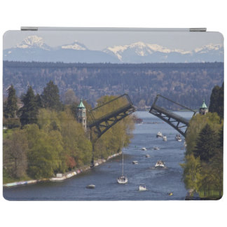 Montlake Bridge and Cascade Mountains iPad Cover