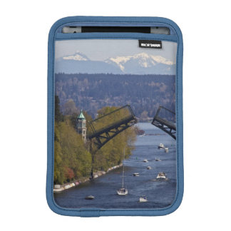 Montlake Bridge and Cascade Mountains iPad Mini Sleeve