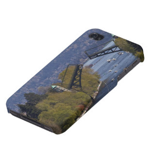 Montlake Bridge and Cascade Mountains iPhone 4 Covers