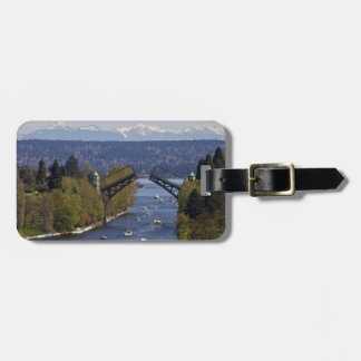 Montlake Bridge and Cascade Mountains Luggage Tag