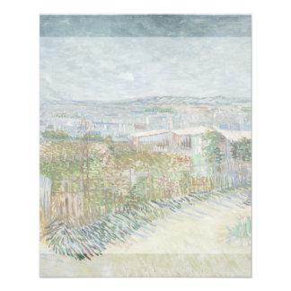 Montmartre Behind Moulin de la Galette by Van Gogh 11.5 Cm X 14 Cm Flyer
