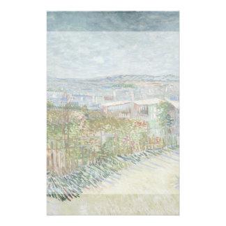 Montmartre Behind Moulin de la Galette by Van Gogh 14 Cm X 21.5 Cm Flyer