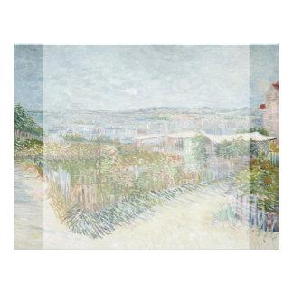 Montmartre Behind Moulin de la Galette by Van Gogh 21.5 Cm X 28 Cm Flyer