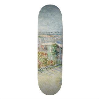 Montmartre Behind Moulin de la Galette by Van Gogh Custom Skate Board