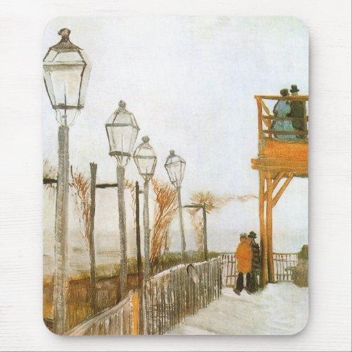 Montmartre by van Gogh, Vintage Impressionism Art Mousepads